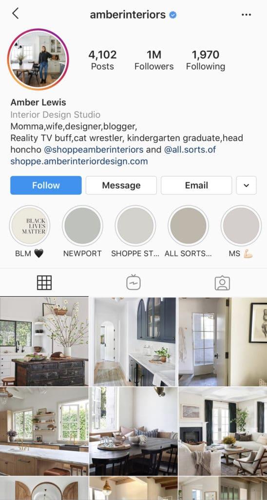 Wolf Global_Interior Design Instagram Accounts_AmberInteriors