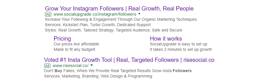 Buy Instagram Followers Search Results on Google