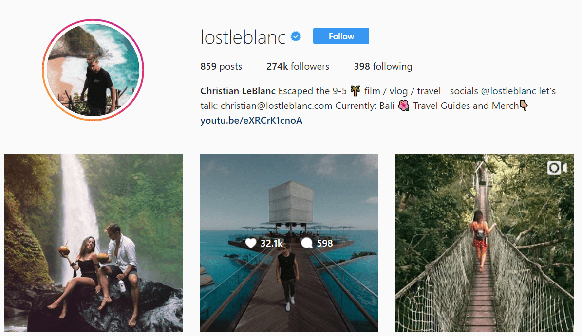 Instagram Engagement Example Lost LeBlanc