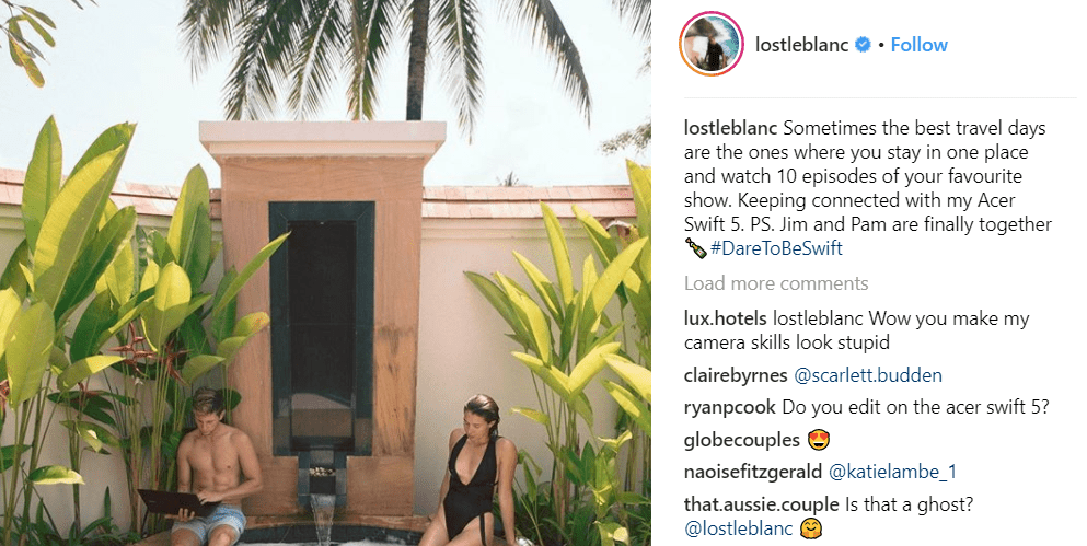 Lost LeBlanc Instagram Life Brands